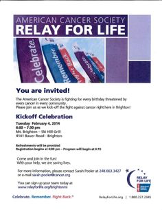 Stay tuned more Relay for Life Information Coming your way!