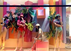 """American Apparel, East Houston St, """" bored girls.....let's go for a swim"""", pinned by Ton van der Veer"""