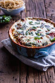 Quinoa Crusted Zucchini and Eggplant Parmesan