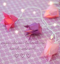Roses en origami