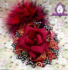 #handmade #rosebow #hairbow #kassiascreations #ottbow #crazybow #bowlove