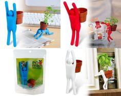 Creative Man With Pot+Seeds Mini Ecoey DIY Desktop Desk Plant Home Decoration