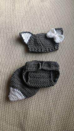 Wolf Photo Prop Newborn Wolf Outfit Crochet Wolf by ABentzBoutique