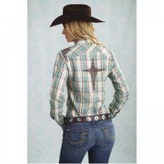 Resistol Ladies Gena Plaid Snap Long Sleeve Shirt