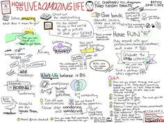Sketchnotes of How to Live an Amazing Life - C.C. Chapman - Third Tuesday Toronto