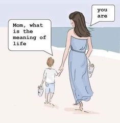 Mom, what is the meaning of life You are . Mum Memes, Funny Memes, Gentle Parenting, Parenting Hacks, True Meaning Of Life, Stage Yoga, 5am Club, Yoga Lyon, Being A Mom
