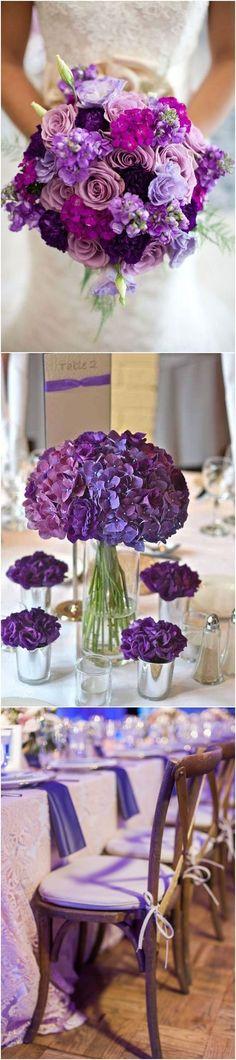 pantone wedding color 2018- Ultra violet purple wedding color ideas / http://www.deerpearlflowers.com/ultra-violet-wedding-color-palette-idea/