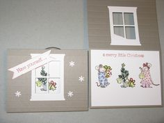 Heart and Home Papercrafters - CTMH slate grey card stock and CTMH Merry Little Christmas stamp set (retired)