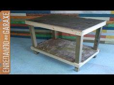Enredando No Garaxe Woodworking Planes, Diy Woodworking, Plane Tool, Studio Ideas, Table, Furniture, Youtube, Home Decor, Countertops