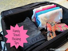 Five Tips for Family Travel Packing |my scraps