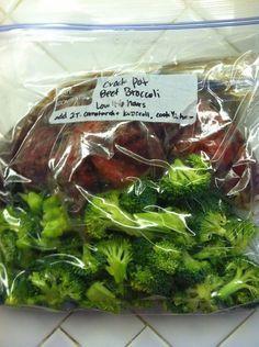 freezer crockpot Chinese beef broccoli | 25+ Freezer to Crockpot Meals