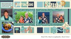"""This CTMH Studio-J layout came together in a jiffy! Everything is digital so you simply """"drop & drag"""" your pictures into the photo wells and add embellishments. There are even """"suggested"""" embellies for each layout that you can colorize! Easy-peasy!"""