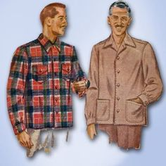 1940s Original WWII Simple to Make Mens Shirt or Light Jacket Pattern Sz Small   eBay