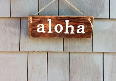 Aloha Rustic Sign by HomesteadDesign on Etsy