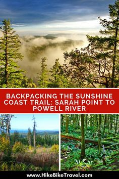 Backpacking the Sunshine Coast Trail: Sarah Point to Powell River - Hike Bike Travel Beautiful Places To Visit, Cool Places To Visit, Powell River, Thru Hiking, Hiking Trails, Visit Canada, Best Hikes, Sunshine Coast, Canada Travel