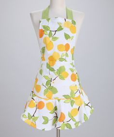 Citrus blossom apron - adorable!