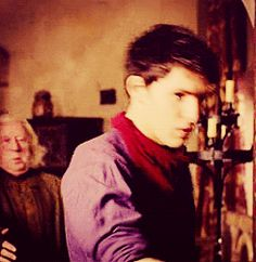 """I swear Colin Morgan must be the most pretty and elegant fainter I have ever seen."" (gif)"