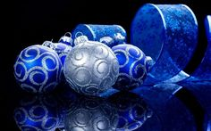 blue and silver christmas background - Google Search