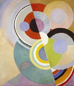 Cubism Painting: Rythme Coloré (Colored Rhythm) by Artist Sonia Delaunay Sonia Delaunay, Robert Delaunay, Piet Mondrian, Inspiration Art, Arte Popular, Design Museum, French Artists, Art Plastique, Oeuvre D'art