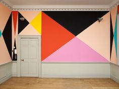 Bold geometric lines + bright paint colors