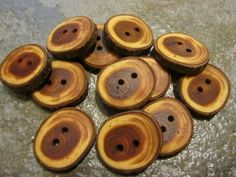 12 Yew Wood Tree Branch Buttons. Just Under by PymatuningCrafts, $7.20 .. I love @Leigh Meehan! Maybe she will join the samplers someday .. :)