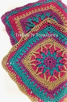 Ravelry: Starburst Square FREE crochet pattern by Tera Kulling