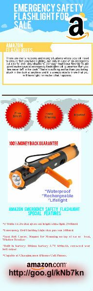 Emergency Safety Flashlight - Window Breaker For sale