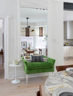 Get tips to decorating with mirrors to add style to your home! Learn how to use mirrors in kitchens, bathrooms, bedrooms, living rooms and more.