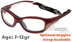 96ea4720bb6  7-12 yrs  Rec Specs F8 Slam Patriot  Shiny Crimson - 52 Size  (Prescription  Rx Lenses Available)