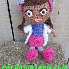 Lil Miss Doctor Doll by FreaksInYarn | Mad Mad Makers | https://www.etsy.com/listing/180544200/lil-miss-doctor-doll