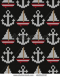Find Knitted Marine Seamless Pattern stock images in HD and millions of other royalty-free stock photos, illustrations and vectors in the Shutterstock collection. Tapestry Crochet Patterns, Fair Isle Knitting Patterns, Knitting Charts, Knitting Stitches, Knit Patterns, Beading Patterns, Cross Stitch Cards, Cross Stitching, Cross Stitch Embroidery