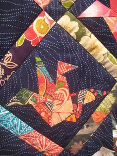 Crane in 'Peace Quilt' by Margaret Rolfe by Annie_Shea