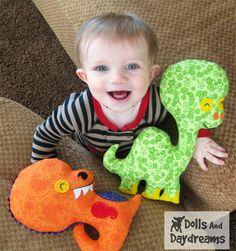 T Rex Sewing Pattern PDF Tyrannosaurus by DollsAndDaydreams, $8.00