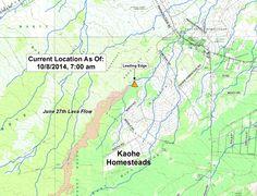 Puna Lava Flow Map USGS 10/8/14