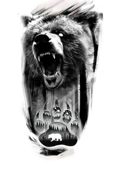 4 Tattoo, Black And Grey, Gray, Sketch, Animal Pictures, Tigers, Bears, Sketches, Tatuajes