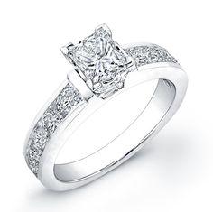 Modern Style Diamond Engagement Ring. #ring #diamond #modern #bridal #wedding #engagement
