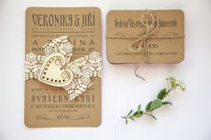 Svatební oznámení Rustical heart Rustic Wedding, Place Cards, Wedding Invitations, Place Card Holders, Mandalas, Wedding Invitation Cards, Wedding Invitation, Wedding Announcements, Wedding Invitation Design