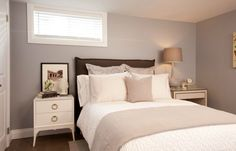 Bright and airy basement bedroom #IncomeProperty #HGTV