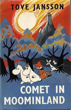 Buy Comet in Moominland by Tove Jansson at Mighty Ape NZ. When signs appear that a comet is heading towards their beloved Moominvalley, Moomin and his friend Sniff set sail to consult with the professors in t. Moomin Books, Les Moomins, Tove Jansson, Children's Book Illustration, Book Illustrations, Mode Inspiration, Vintage Books, Book Design, Cover Art