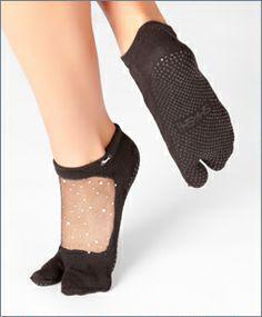 Shashi TWINKLE in STAR! Pilates, Barre, Yoga, Rehabilitation! Cool Feet Grip Socks   Split Toe