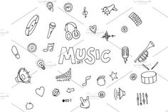 Music - doodles collection by Netkoff on @creativemarket