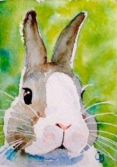 Bunz  the cool bunny ACEO giclee print by christydekoning on Etsy, $5.00