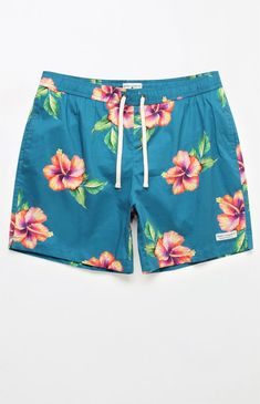 Flamingo Printed Hawaii Scenery Mens Beach Shorts Summer Elastic Waist Casual Shorts Men Swimwear Holiday Shorts Beach Fashionable And Attractive Packages Board Shorts