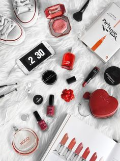 Red flatlay