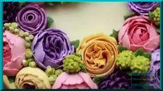 Цветы в подарок. Как украсить торт. Оформление тортов