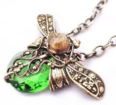 Burlesque dragonfly necklace Belle Epoque vintage by Federikas, $125.00