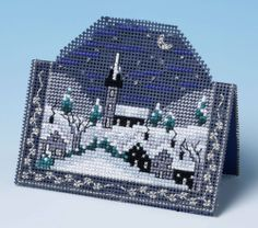 This 3D cross stitch card kit features a picturesque winter scene, perfect for sending as a festive greeting card. With no construction required, all ...