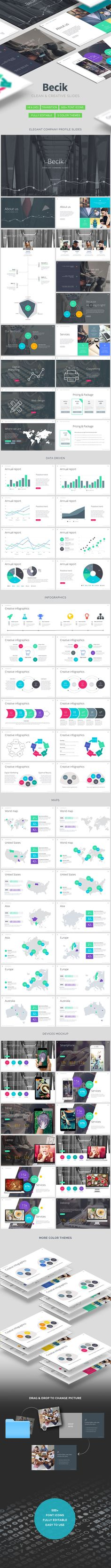 Becik - Creative Keynote Template #slides #design Download: http://graphicriver.net/item/becik-creative-keynote-template/14222328?ref=ksioks