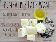 pineapple-face-wash-diy-scrub