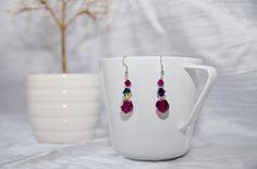 "Swarovski earrings ""Magenta"""